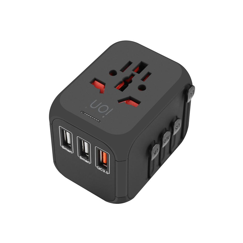 iON Qualcomm Quick Charge 3.0 3 USB World Travel Charger